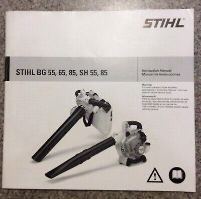 STIHL BG55 BG65 BG85 SH55 SH85 Blower Owners Manual EBay