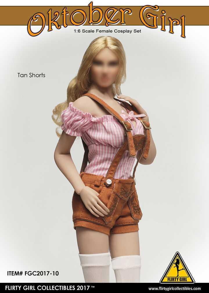 1 6 cifra Flirty Girl's Oktoberfest Cosplay capi  di abgreeliamento Set with Tan Shorts 17-10  grande sconto