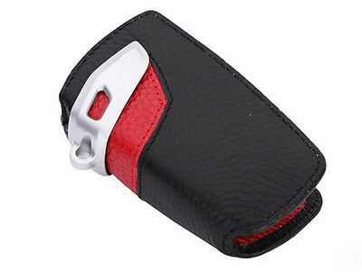 Red Key Case Shell Remote key Holder Leather Gift bag for BMW 1 3 5 series F30