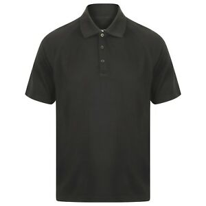 21e2207a824 Image is loading EDZ-Merino-Mens-Polo-Shirt-200gsm-Black