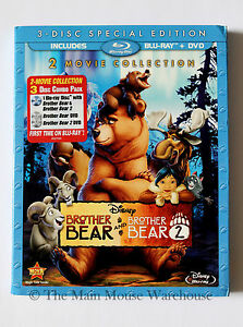 Disney-Nature-Moose-Comedy-Brother-Bear-1-amp-2-Two-Movie-Collection-Blu-ray-amp-DVD