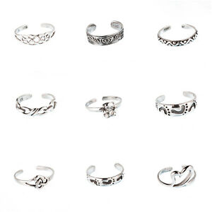 Zehenring-Zehenringe-Fussring-Fussschmuck-toe-ring-925-Sterling-Silber-z418