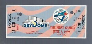 VINTAGE-MLB-1989-TIGERS-TORONTO-BLUE-JAYS-FULL-TICKET-FIRST-EVER-SKYDOME