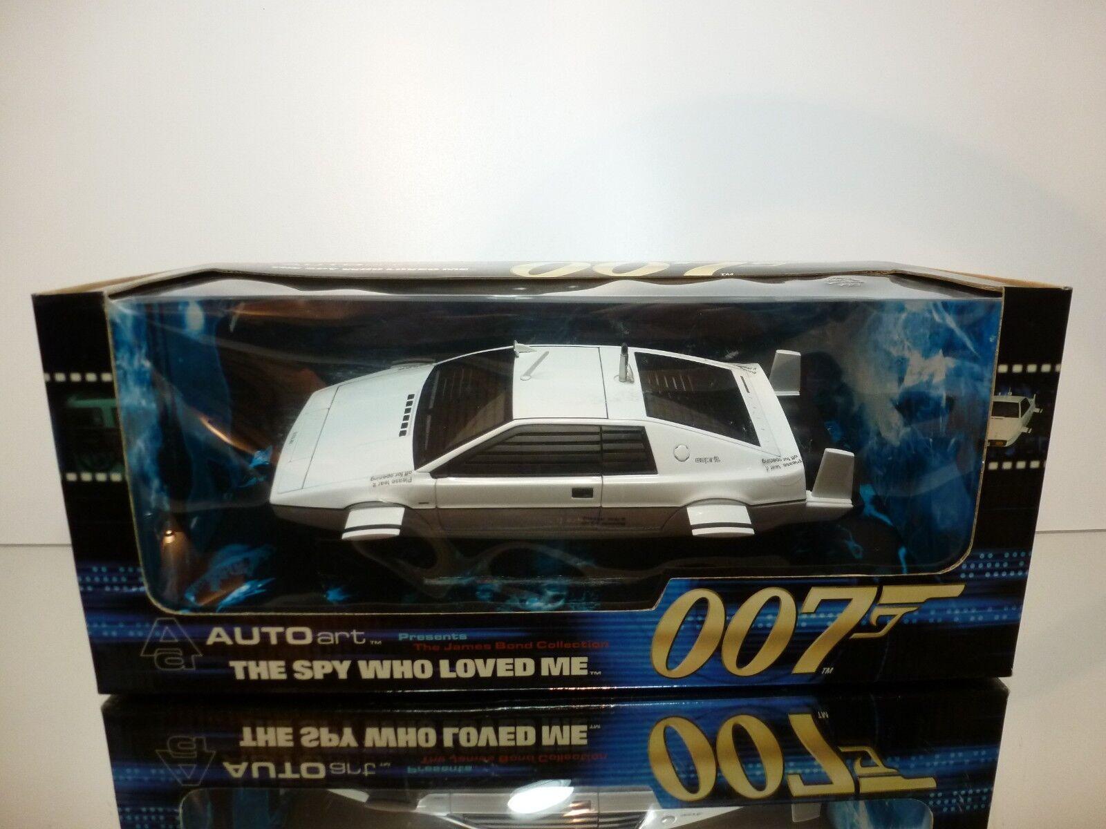 AUTOART 75306 LOTUS ESPRIT 1979 SUBMARINE 007 JAMES BOND 1 18 - EXCELLENT IN BOX