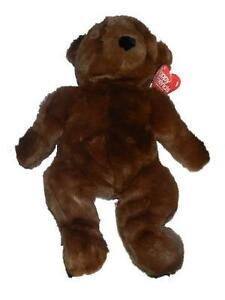 "Mervyns Floppy Friends 19"" Seated Brown Teddy Bear Stuffed Animal Hang Tag"