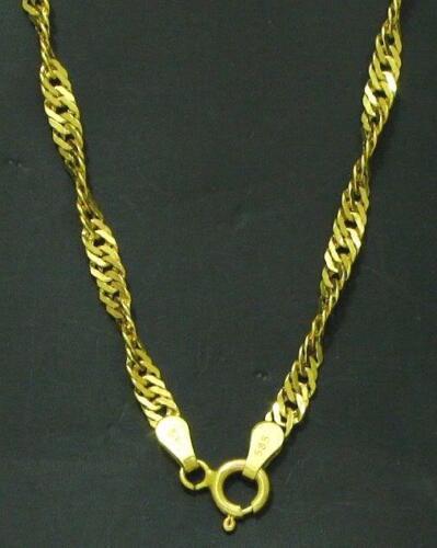 nuevo 45 cm de largo masivamente Señora collar cadena dorado girado 585 oro 14 kt