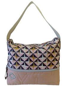 Oilily Handtasche Charm Hobo Lhz Damen Details Schultertasche Zu Geometrical Bag Tasche WIDE29H
