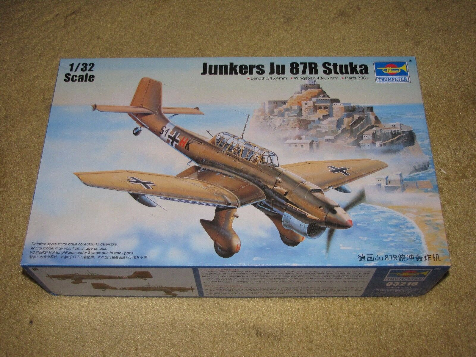 03216 1 32 Scale Junkers  Ju 87R Stuka Bomber Warcraft Plane Model Trumpeter  meilleure offre
