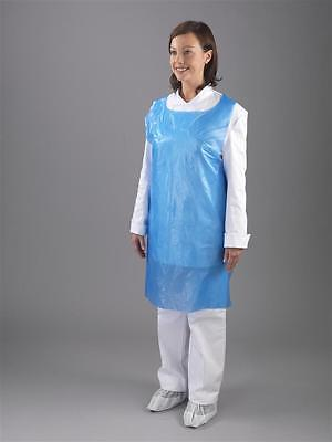 Disposable Plastic Aprons Polythene Aprons Eco Flat Pack White / Blue Colors