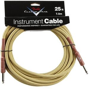Fender-FG25T-Performance-Guitar-Bass-Instrument-Cable-25-039-Tweed