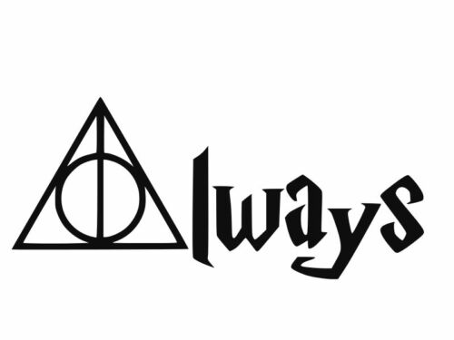 HARRY POTTER ALWAYS Deathly Hallows Vinyl Decal Car Wall Sticker CHOOSE SIZE