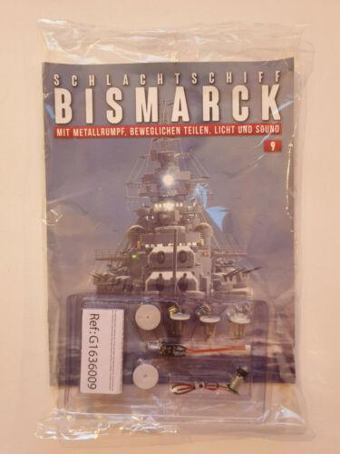 NEU hachette Modell 9 NEU /& OVP Bausatzteil Schlachtschiff BISMARCK Teil-Nr