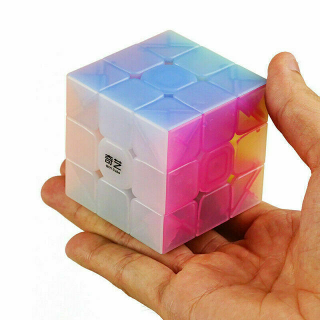 Newest QiYi 3x3x3 Magic Cube Speed Cube Stickerless Jelly Color Toy Gift