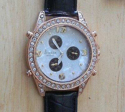 Franklin Quartz Style Watch With Mother Of Pearl & Rhinestones (Style 3376)