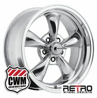 17x8/17x9 Inch Staggered Retro Polished Wheels Rims For Dodge Charger 66-78