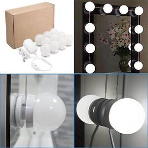 Image Is Loading White Lighted Hollywood Led Vanity Mirror Light Kit