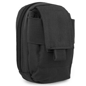 Mil-Tec-Police-Security-MOLLE-Padded-Small-Utility-Phone-MP3-Player-Pouch-Black