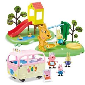 Peppa-Pig-amp-a-Playground-Day-Friends-THE-Playset-con-4-Park-Figure