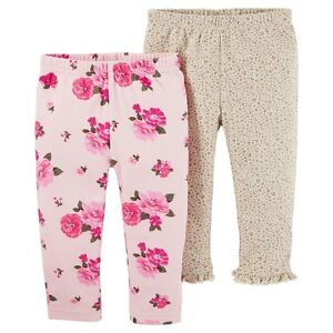 7dc9b083026e8 Baby Girls' 2 Pack Floral Pants Pink NB - Just One YouMade by ...