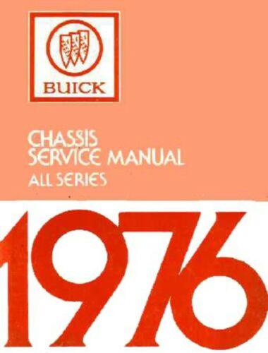 1976 Buick Service Shop Repair Manual Engine Drivetrain Electrical Factory OEM