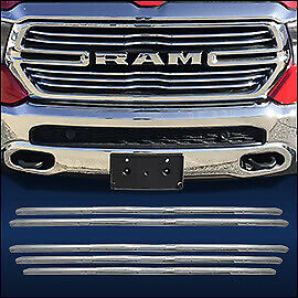 chrome grille overlay 5 pcs fits 2019 2020 dodge ram truck 1500 w 5 bar grill ebay details about chrome grille overlay 5 pcs fits 2019 2020 dodge ram truck 1500 w 5 bar grill