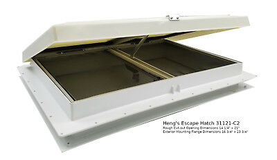 Hengs Industries 90129-C1 RV Trailer Camper 22 X 22 Lid For Elixir