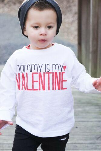 Mommy Is My Valentine Toddler Baby Boy Valentine/'s Day Shirt Outfit Bodysuit