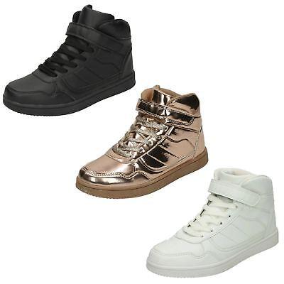 Da Donna Spot On Caviglia Alta a Strappo CinturinoScarpe Ginnastica con Lacci | eBay