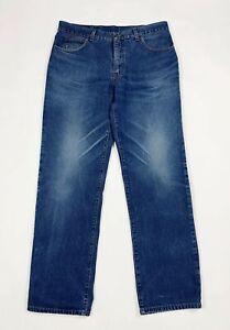 Dexter-jeans-uomo-usato-denim-W38-tg-52-gamba-dritta-boyfriend-blu-vintage-T6586