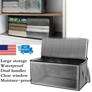 Quilt Zipper   Bag   Blanket Clothes    Storage Foldable  Closet  Box Organizer