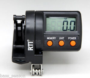 Digital line counter fishing line depth gauge 2 way for for Fishing line counter for spooling