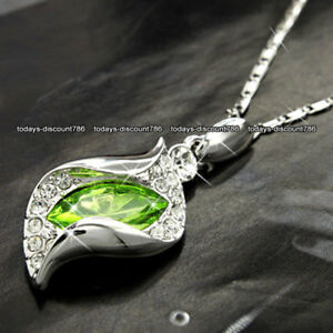 BLACK-FRIDAY-Green-amp-Silver-Crystal-Necklaces-Xmas-Gifts-For-Her-Lady-Mum-Women