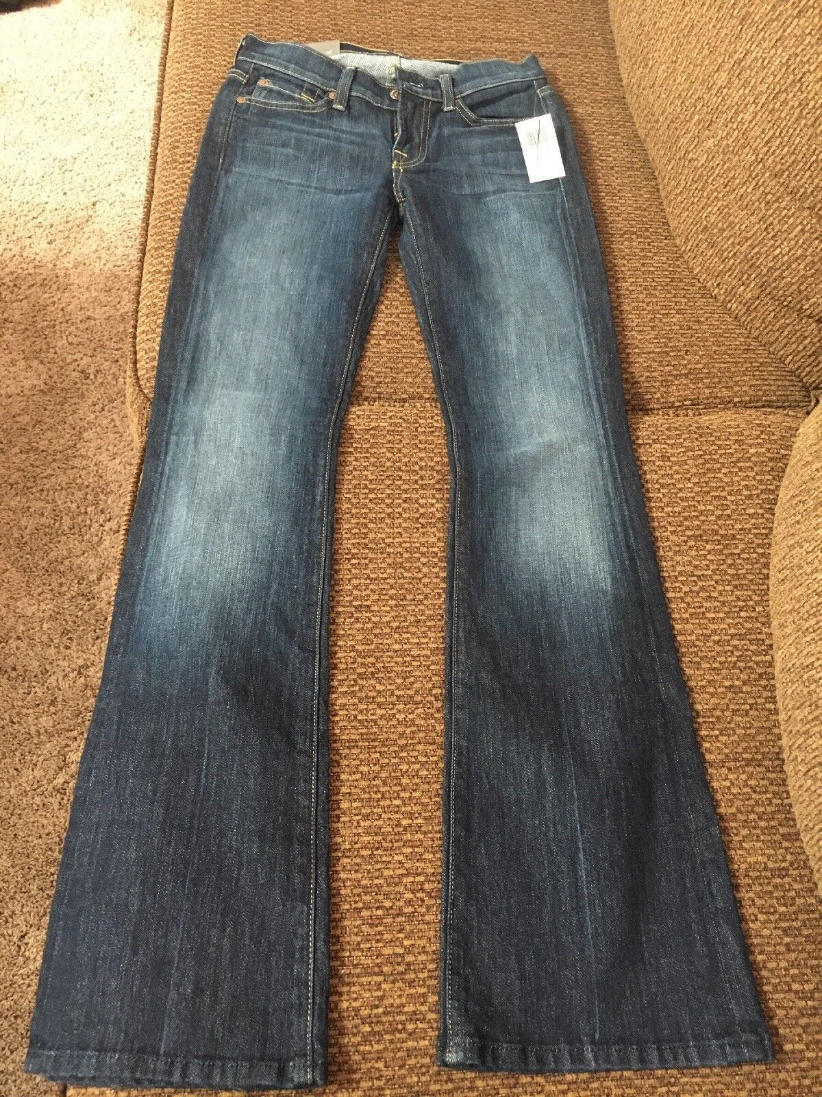 Womens 7 For All Mankind Bootcut Denim bluee Jeans Original Bootcut Size 24
