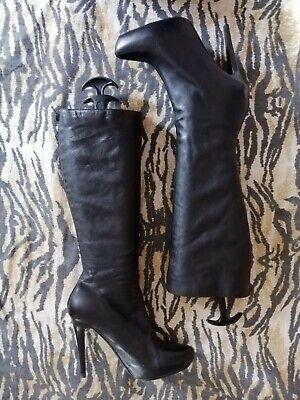 Aldo Black Leather eu38 uk 5.5 Knee