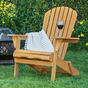 Outdoor-Wood-Adirondack-Chair-Foldable-Patio-Lawn-Deck-Garden-Furniture