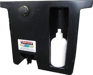 Vehicle-Water-Tank-with-soap-dispenser-18L-Under-tray-ute-tank-Slimline-BLACK