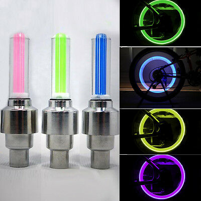 NEW LED Motorcycle Cycling Bike Bicycle Wheel Tire Valve Flashing Light Car Lamp