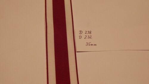 Ordensband Hessen 35mm breit 0,5meter D232 m9,80 d238-