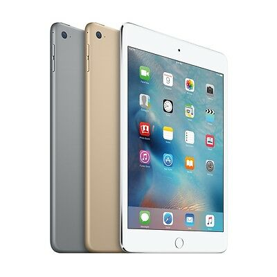 "Apple iPad Mini 4 128GB (Wi-Fi) 7.9"" iOS Tablet - Gold / Silver / Space Gray"