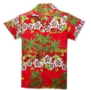 NEUF Chemise hawaïenne vacances CLAIR ÉTÉ PLAGE Bruyant Fête