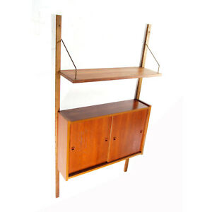Retro-Vintage-Danish-Teak-PS-Wall-System-Bookcase-Cabinet-Wall-Shelving-60s-70s