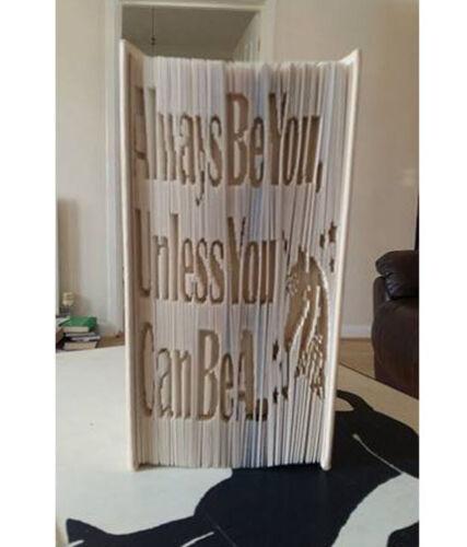 Unicorn Quote Cut and Fold method #402 Book Art Folding PATTERN