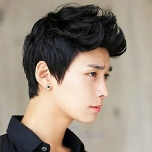 516180c8dd3 Men Korean Handsome Vogue Black Short Hair Cosplay Party Hair Wig ...