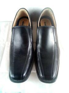 BNWB-TU-Homme-Noir-Cuir-Smart-carriere-Bureau-Chaussures-Taille-12-Flexible-Lumineuse