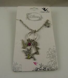 Disney-Tinkerbell-necklace-charm-style-believe-wings-crystal-tinker-bell-star