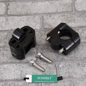 UK-CNC-Black-HandleBar-Fat-Bar-Risers-Mount-Clamp-22MM-28MM-Motorcycle-ATV-Quad