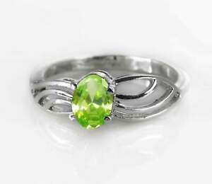 Peridot-925-Sterling-Silver-Ring-Natural-Green-Gemstone-Size-4-11