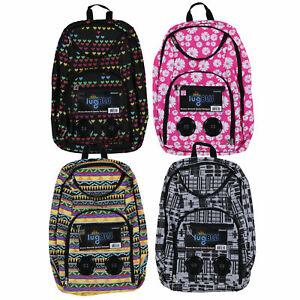 bd22d5a7a6dc Details about Lugblu Bluetooth Speaker Backpack Travel Bookbag Music  Shoulder Bag Pockets New