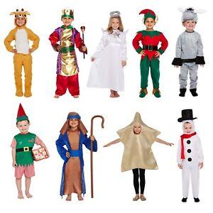 Bambini Natale Costume Vestito Natale Natività Travestimento Costume Festa