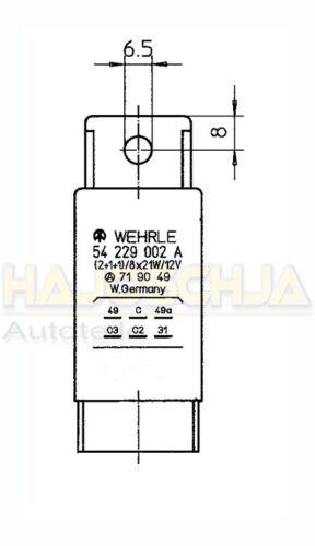 Tracteur Remorqueur Universal blinkrelais Warnblinkgeber 12 V 8x21w 2+1+1